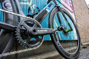 Carbon Easton cranks with a 42t ring.